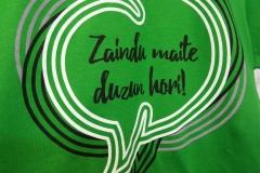 Camiseta personalida algodón verde